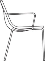 Light armchair
