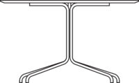 Table 3600 x 1200 mm, height 720 mm, white laminated plywood MicroDot