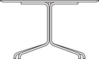 Table 4775 x 1200 mm, height 720 mm, white laminated plywood MicroDo