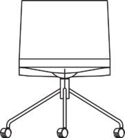 Chair, 4 castors