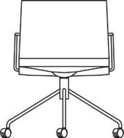 Armchair, 5 castors