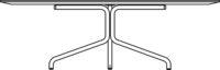 Table Ø1000 mm, height 400 mm, white laminate, MicroDot / white pigmented oak laminate