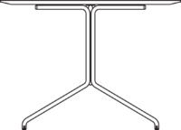 Table 2400 x 1000 mm, height 720 mm, white compact laminate