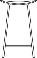 Low Bar stool, fully upholstered