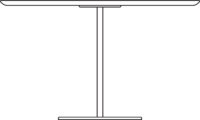 Table Ø1200 mm, height 720 mm