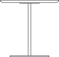 Table 750 x 750 mm, height 1090 mm, white laminated plywood
