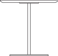 Table, 750 x 750 mm, height 720 mm, white laminated plywood Formica