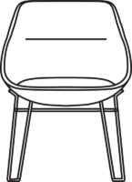 Low chair, sledge base 538-83