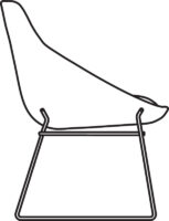 Chair Low, sledge base 538-83