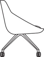 Chair Low, 4 castors 538-84