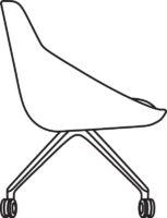 Chair Low, 5 castors 538-84