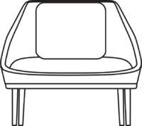 Wood Easy chair 531-16