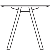 Table 1800 x 800 mm, height 720 mm