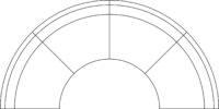 Sofa, semi-circle