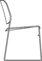 Chair, white NCS 0500, qty < 250