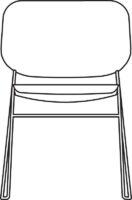 Chair, white laminate