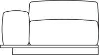 Sofa, 1-seater, armrest right/left