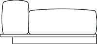 Ottoman, armrest right/left