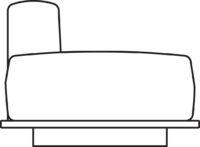 Sofa, 1-seater, ottoman right/left