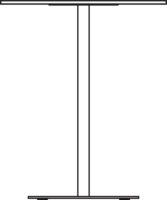 White compact laminate, black core