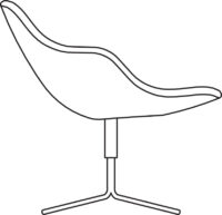 Easy chair, 4-cross