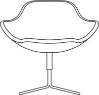 Easy chair, 4-cross