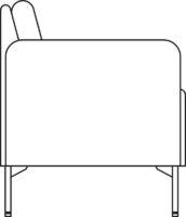 Sofa, 2-seater