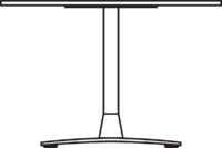 Table Ø600 mm, height 400 mm, white pigmented oak. Chrome frame