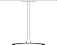 Table Ø900 mm, height 400 mm, white pigmented oak. Chrome frame