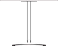 Table Ø900 mm, height 400 mm, white compact laminate. White lacquered frame