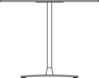 Bord Ø900 mm, höjd 720 mm,  vitpigmenterat eklaminat. Stativ i krom