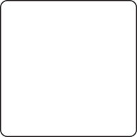 Table 600 x 600 mm, height 720 mm, white compact laminate. White lacquered frame
