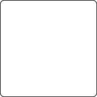 Table 750 x 750 mm, height 720 mm, white compact laminate. White lacquered frame