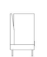 Select sofa, high gable right/left