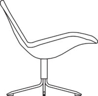 Low easy chair