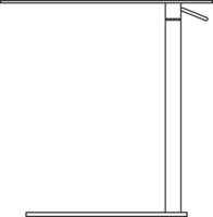 Table 390 x 540 mm, height 550-720 mm