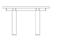 Table 2400 x 1200 mm
