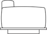 Sofa, 1-seater, armrest right/left, table right/left