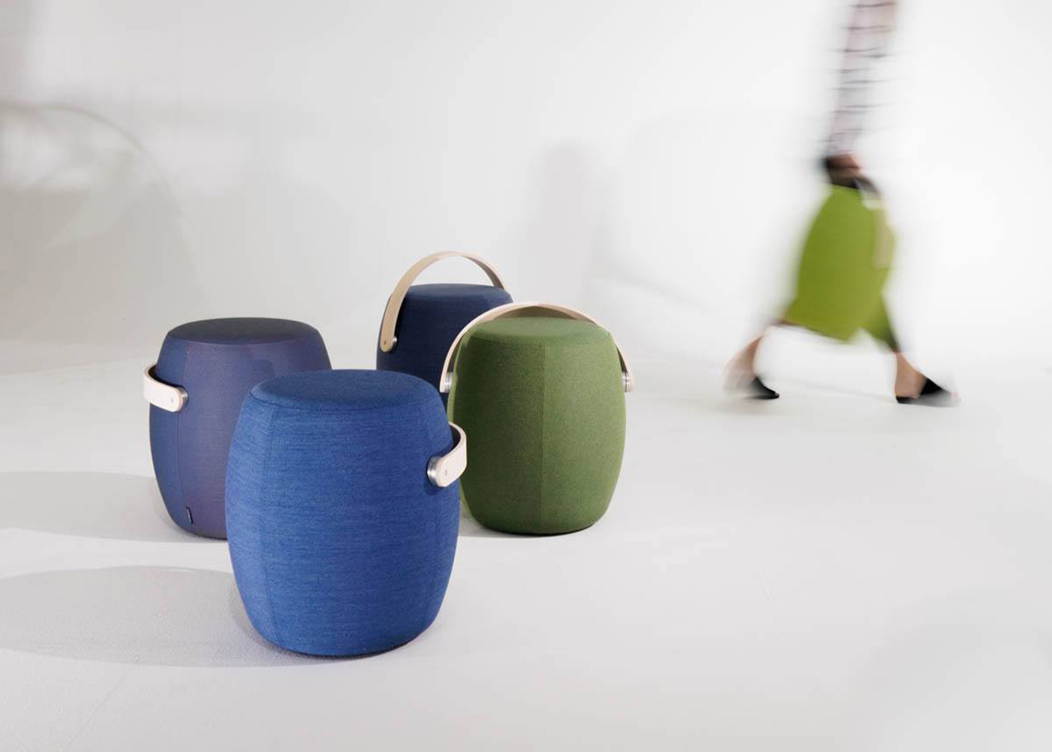 Stool from Offecct, Carry On by Mattias Stenberg