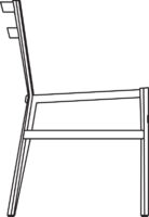 Chair, upholstered in fabric Swing, see page 6 for colours