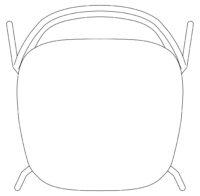 Chair, black mesh