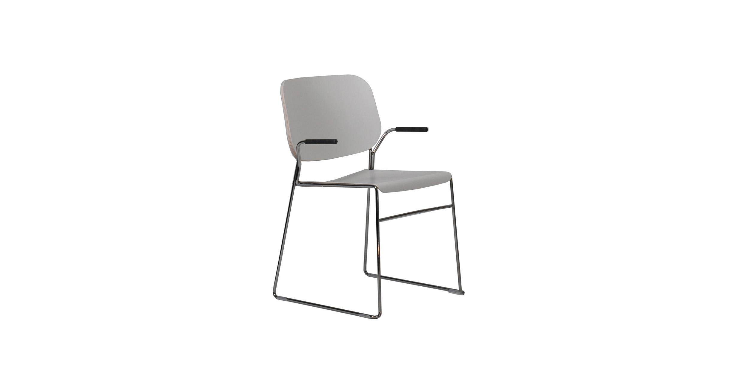 Lite, Stackable armchair by Broberg & Ridderstråle