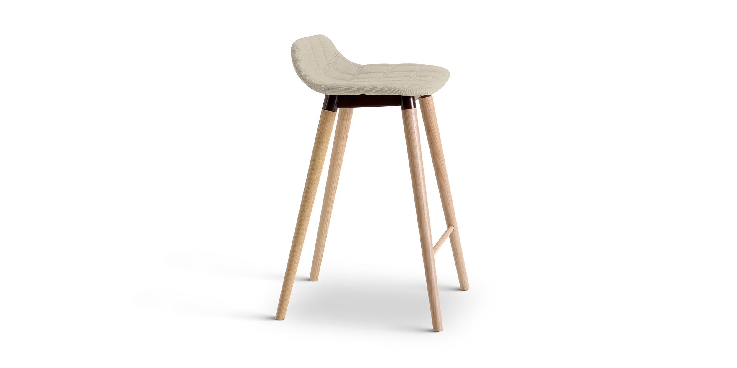 Bop Wood, Bar stool by Knudsen Berg Hindenes