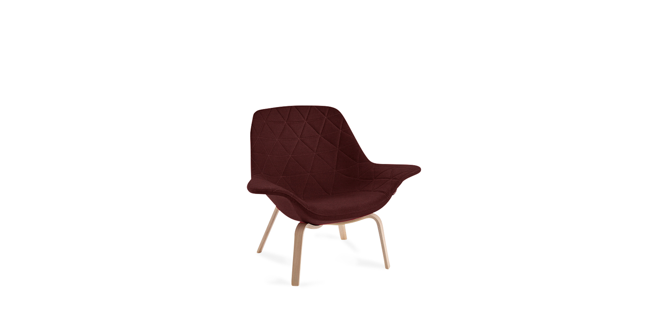 Oyster Wood Low, Easy chair – Design by Michael Sodeau – Offecct