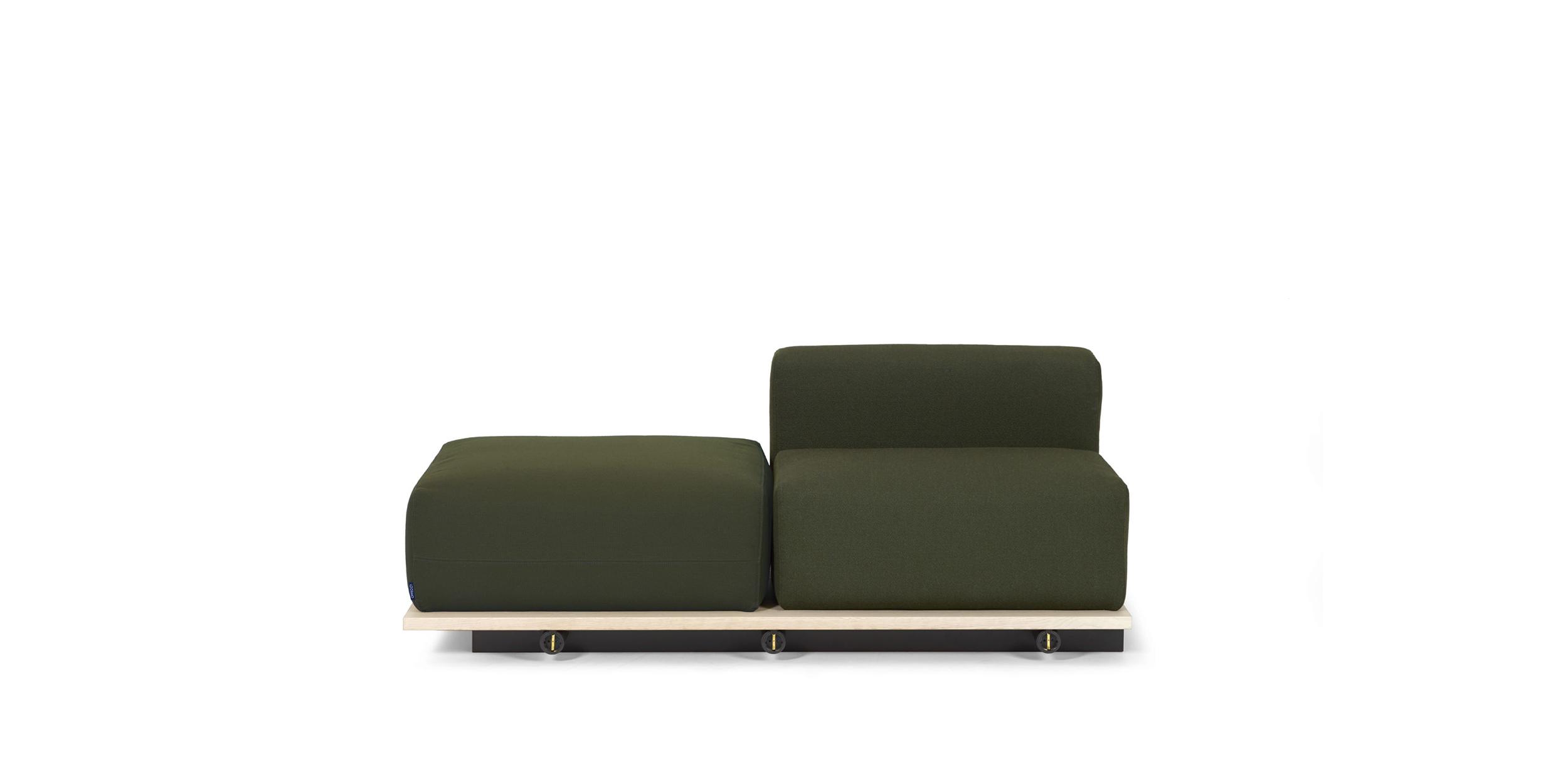 Meet, ottoman/1-seater, center by Fattorini+Rizzini+Partners