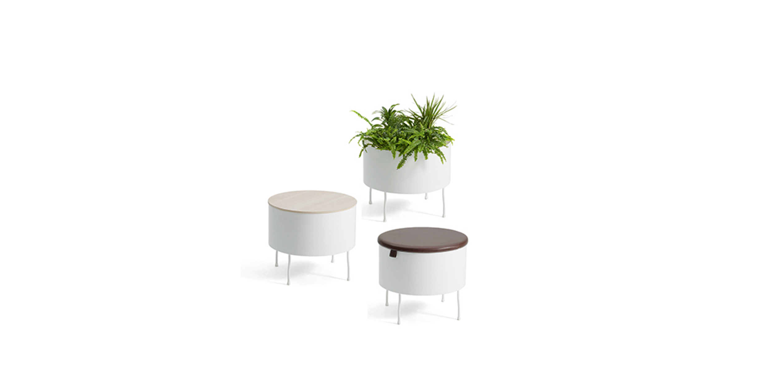 Green Pedestals by Front