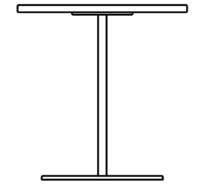 Table 1400 x 700 mm, height 1090 mm