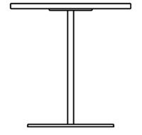 Table Ø700 mm, height 1090 mm
