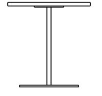 Table 700 x 700 mm, height 1090 mm