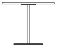 Table 900 x 900 mm, height 1090 mm